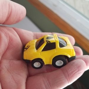 Vtg Ghostbusters Yellow Pull back Car Toy Plastic